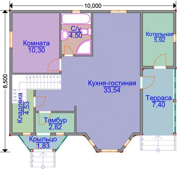 План первого этажа проекта ЭН-04