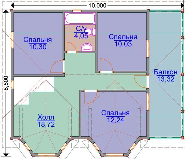 План второго этажа проекта ЭН-04