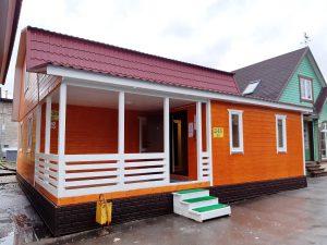 Щитовой дом 9*9м с террасой 12м2
