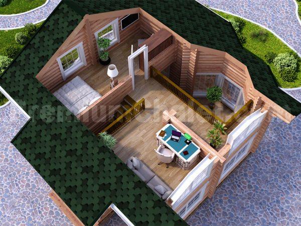 Модель интерьера 2-го этажа