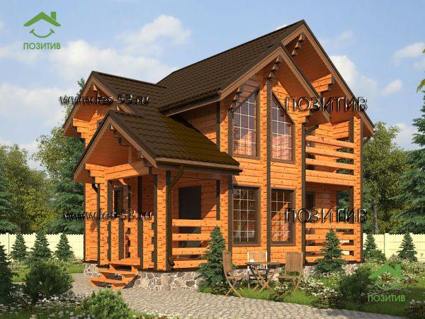 Дизайн дом из бруса К-31 СК Позитив