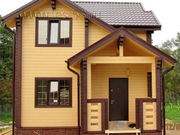 Фото готового дома из бруса К-31 СК Позитив