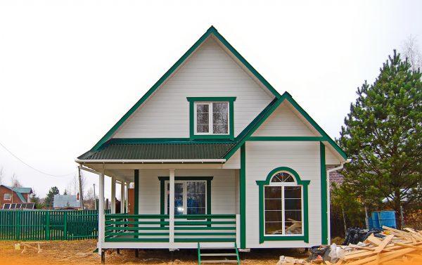 Фото готового дома по проекту Сказка