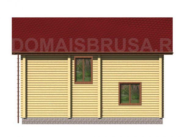 Задний фасад брусового дома Гармония