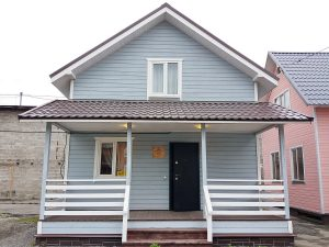 Каркасный дом Удачный 6*8м с террасой