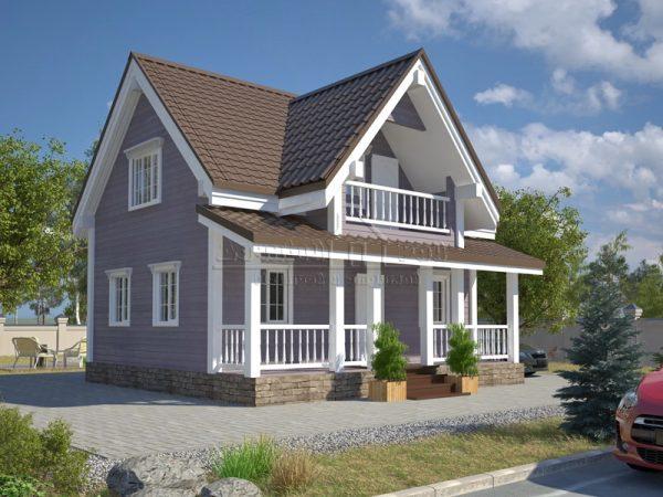 Каркасный дом на дачном участке