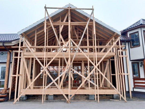 Строительство дома по каркасной технологии на выставке Синдика в Строгино