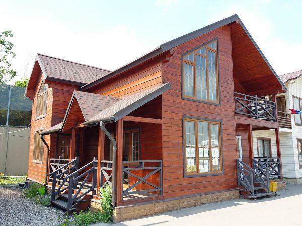Каркасный дом в Строгино 9*9,5 м2 с террасой