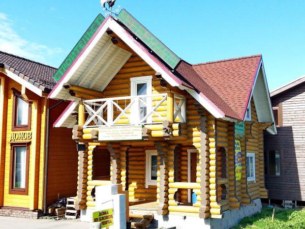 Дом из бревна. Проект 01-04 от компании ПРОМСЕВЕРЛЕС177