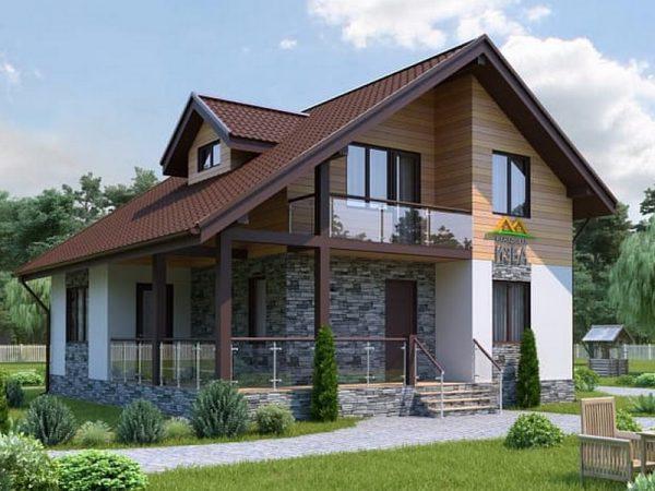 Д-16/30. Каркасный дом Tirol на выставке в Строгино