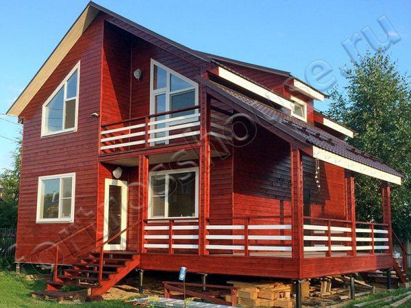 Готовый дом каркасник ФОРТ 145 с террасой
