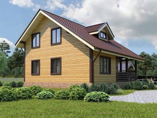 Вариант проекта каркасного дома Tirol