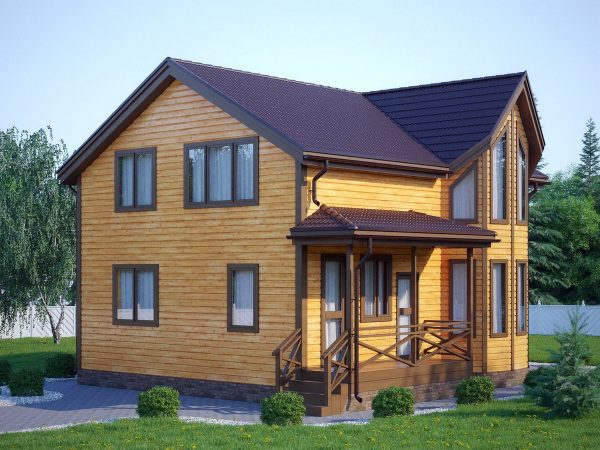 Загородный дом №1 по каркасной технологии