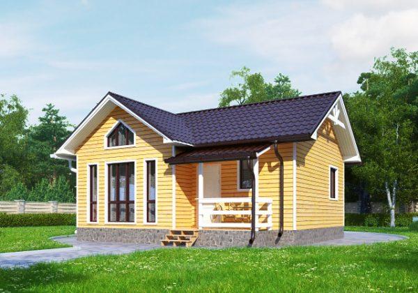 Уютный дачный дом-каркасник 7,5х8м