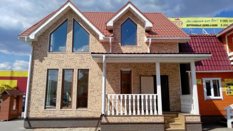 Фасадные панели под кирпич для каркасного дома
