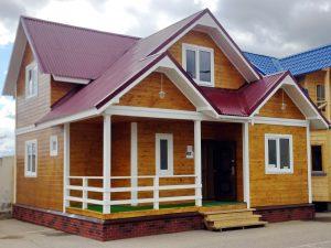 Каркасный дом 8*8 м площадью 102 м2 от компании СК-Энтазис