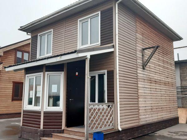 Этот каркасный дом Д-18.4 можно купить с выставки Синдика