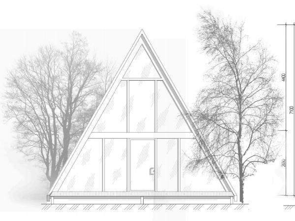 Лицевой фасад фахверк дома Берген-Альфа