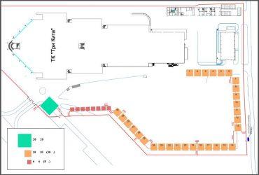 План расположения домов на выставке ТРИ КИТА